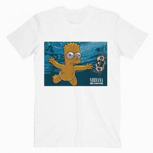 Bart Simpson Parody Nirvana Nevermind Music T Shirt