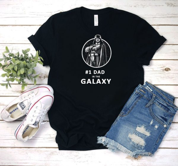 #1 Dad In The Galaxy T Shirt
