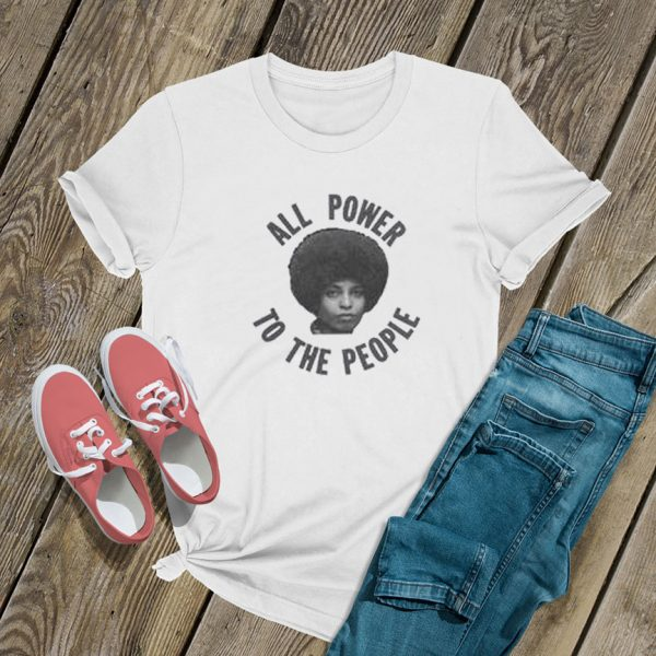 All Power To The People Angela Davis T Shirt