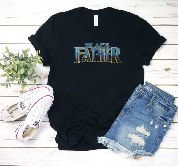 Black Father Black Panther 2 T Shirt