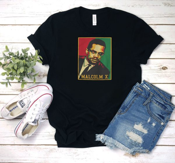 Malcolm X Retro Photo T Shirt