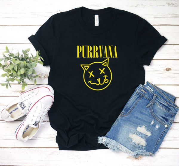 Purrvana Kitty Nirvana T Shirt