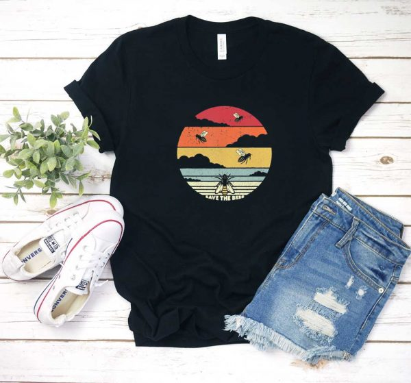 Save The Bees Retro T Shirt