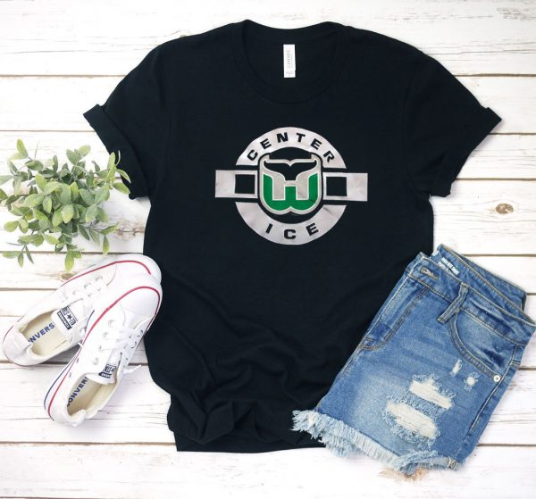 Hartford Whalers Center Ice T Shirt