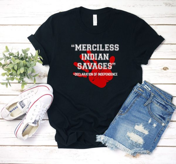 Merciless Indian Savages Graphic T Shirt