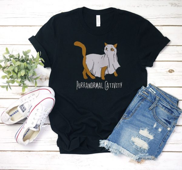 Purranormal Cativity Halloween T Shirt