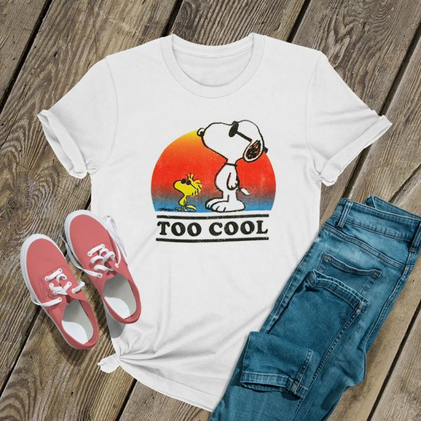 Snoopy and Woodstock Too Cool T Shirt