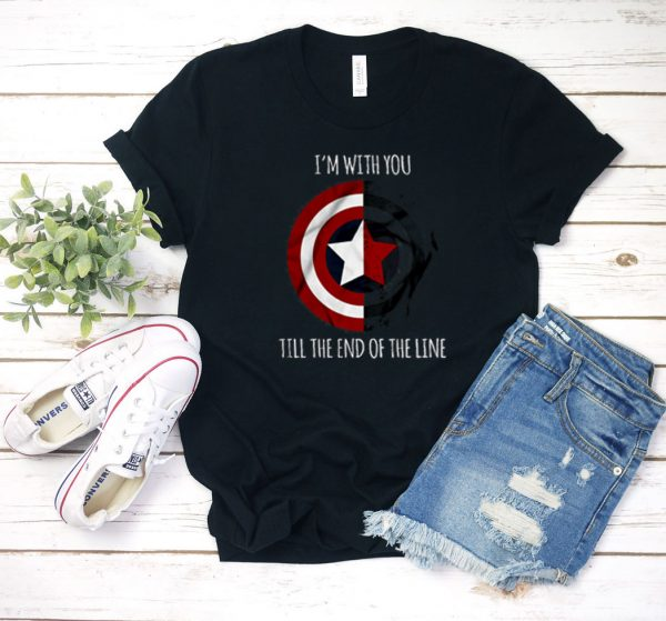 The Line Captain America T Shirt