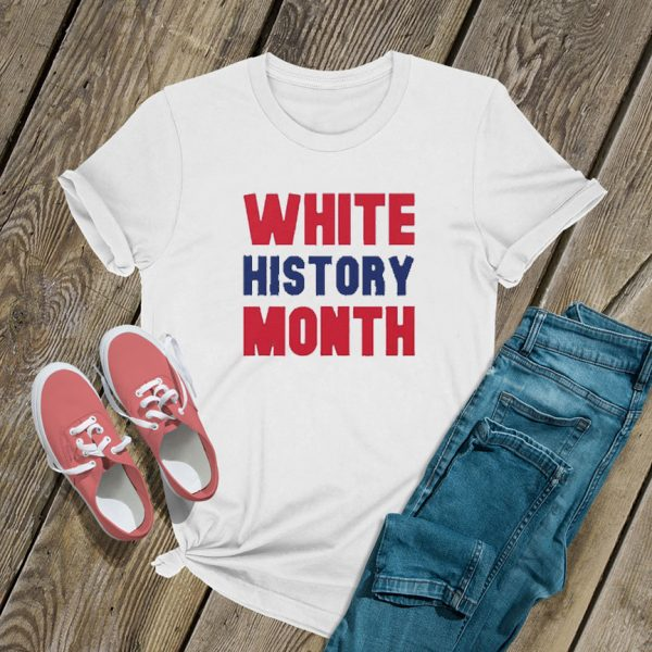 White History Month Font T Shirt