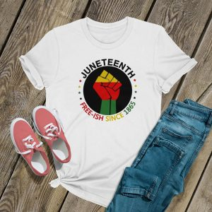 Juneteenth Free Ish Since 1865 Circle Logo T Shirt