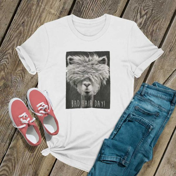 Bad Hair Day Llama T Shirt