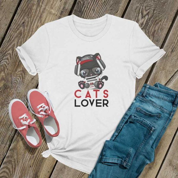 Cats Lover Graphic T Shirt