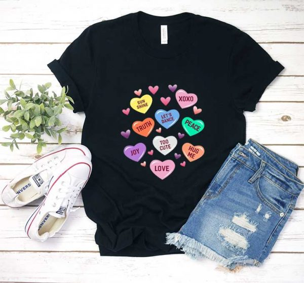 Valentines Day Heart Candy T Shirt