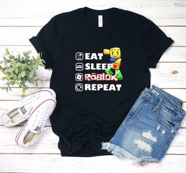 Eat Sleep Roblox Repeat Graphic T Shirt