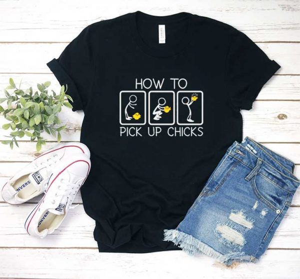 How To Pick Up Chicks Grid T Shirt