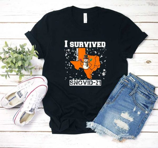 I Survived Snovid 21 Texas T Shirt