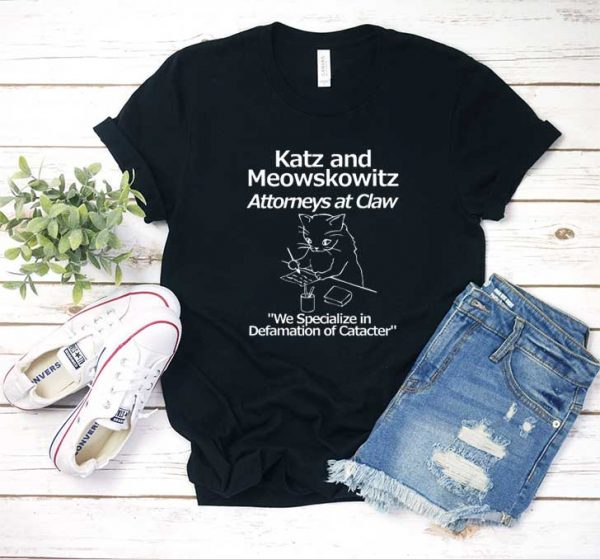 Lawyer Attorney Cat T Shirt