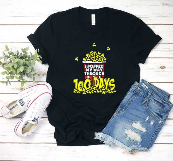 Popcorn 100 Days of School T Shirt