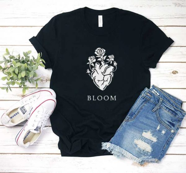 Blooming Heart Roses T Shirt