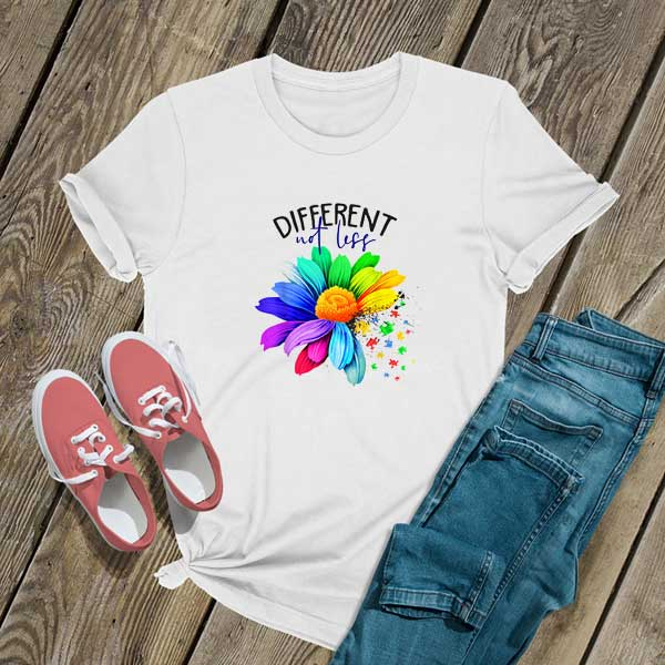 Different Not Less Autism Shirt
