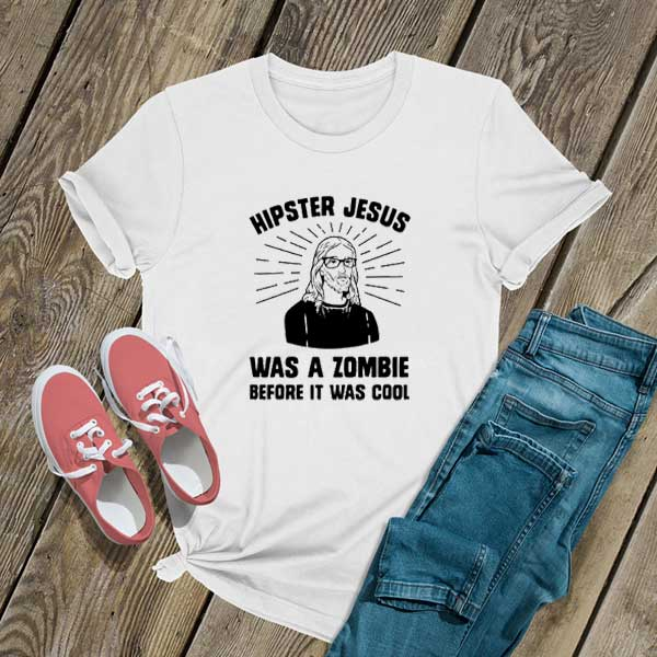 Hipster Jesus Zombie T Shirt