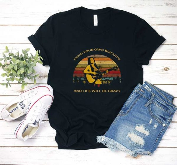Mind Your Own Biscuit Retro T Shirt