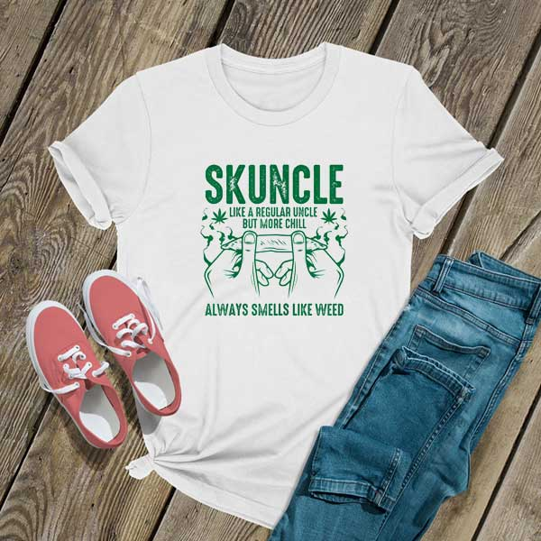 Skuncle Uncle Weed Cannabis T Shirt
