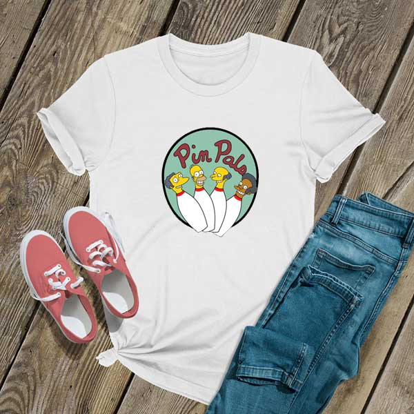 The Simpsons Pin Pals T Shirt