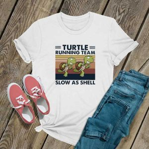 Turtle Running Team Retro T Shirt